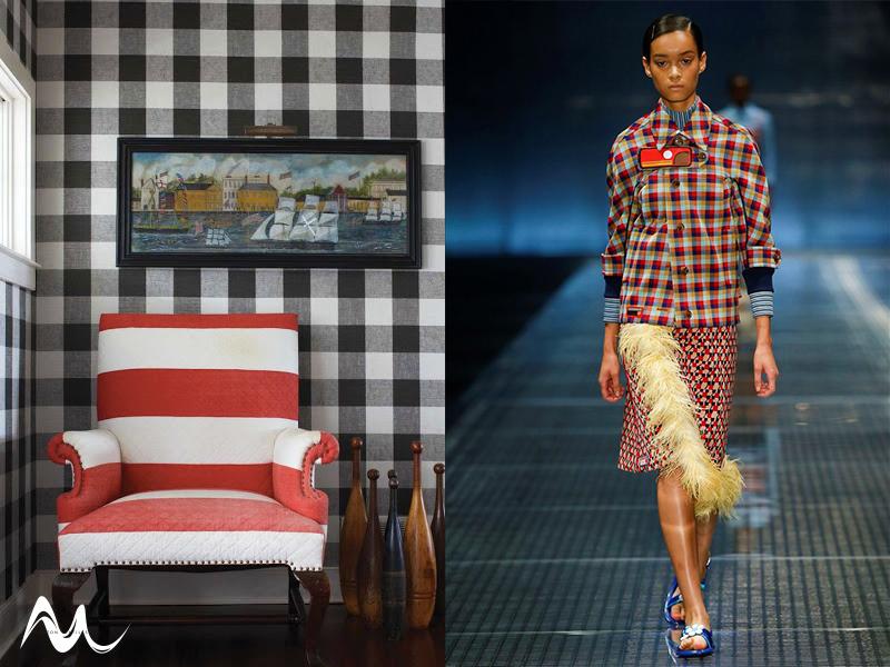 Fashion to Furnishings Plaid Trend