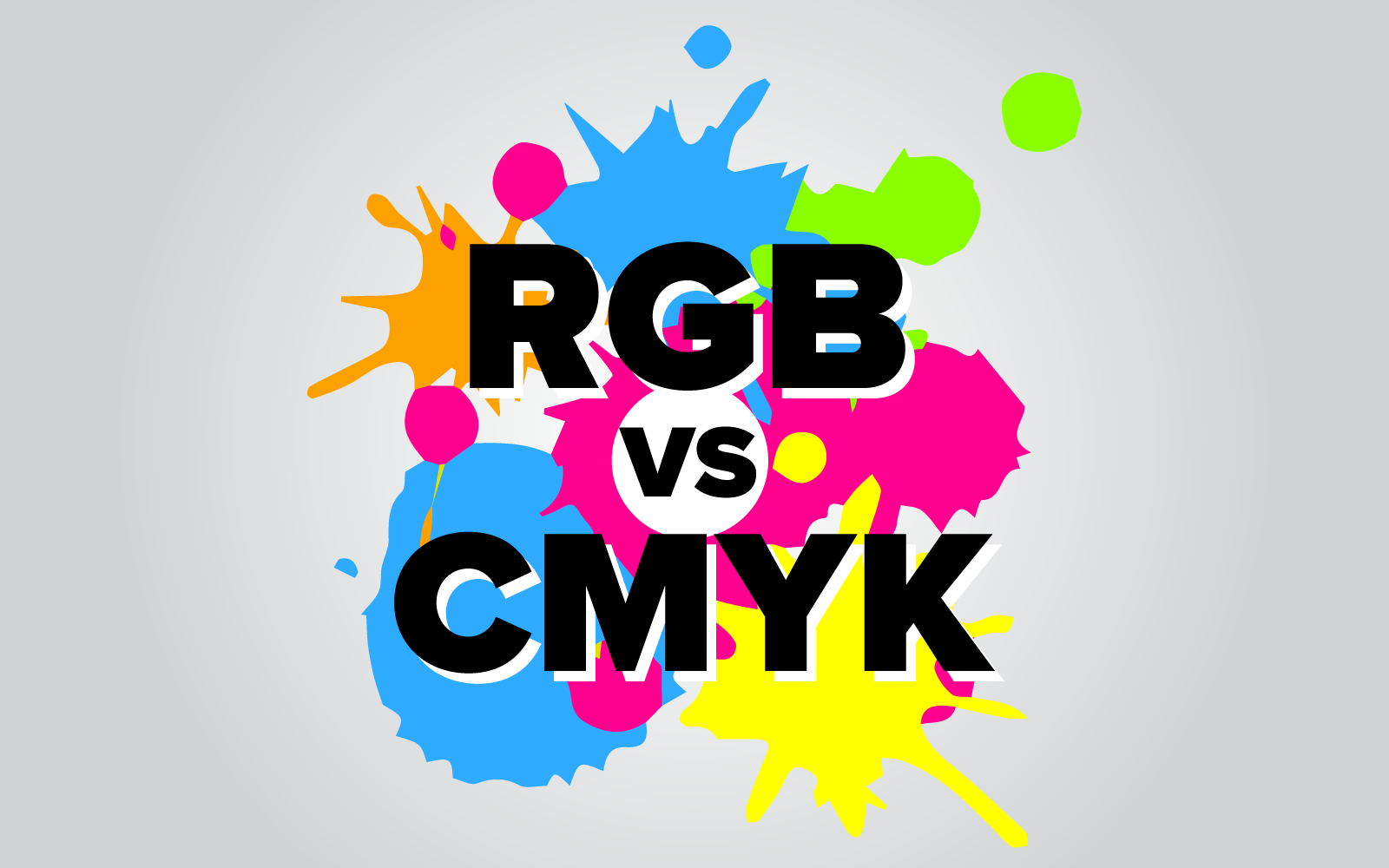 RGB or CMYK – What is the difference? When should you use them?