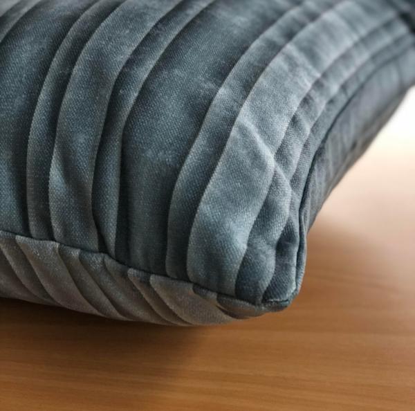 Dark Steel Colour Striped Cushion