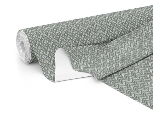 Hawthorne split green colour print on fabric roll