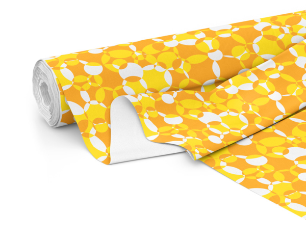 Fabric roll with Compass print in Citrus