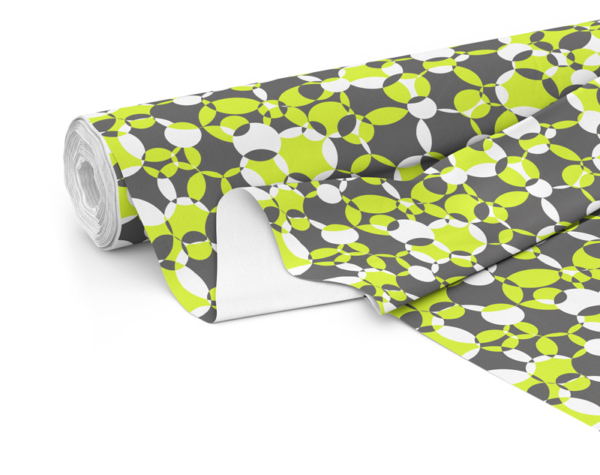 Fabric roll with Compass print in Lime