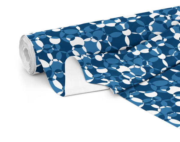 Fabric roll with Compass print in Navy