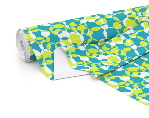 Fabric roll with Compass print in Ocean