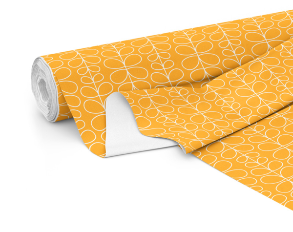 Fabric roll with Fern print in Zest
