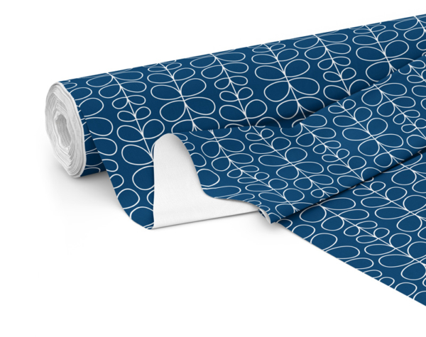 Fabric roll with Fern print in Navy