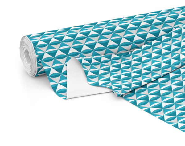 Fabric roll with Serenity print in Lake