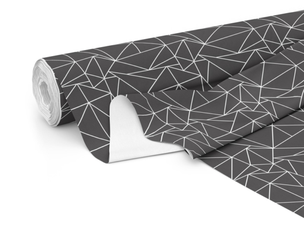 Fabric roll with Solace print in Charcoal