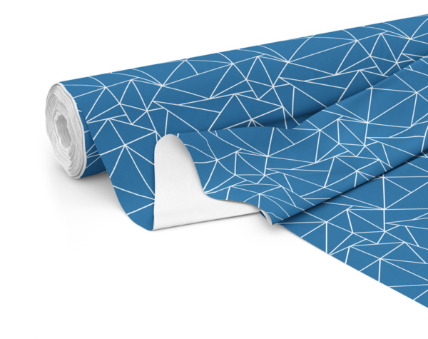 Fabric roll with Solace print in Deep Sea