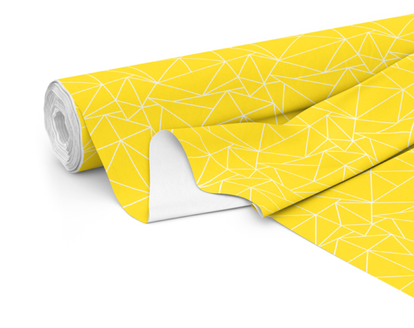 Fabric roll with Solace print in Lemon