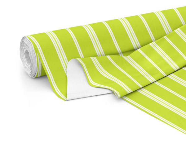 Fabric roll with Wander print in Lime